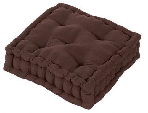 PLAIN BROWN COLOUR MICROFIBRE DINING / GARDEN CHAIR BOOSTER CUSHION SEAT PAD